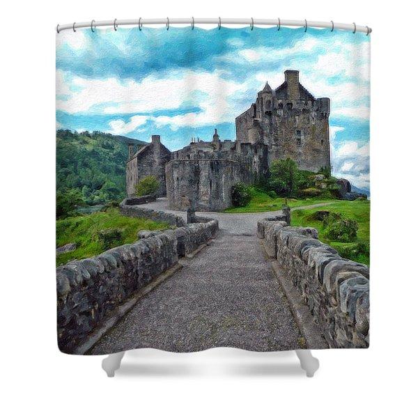 Eilean Donan Castle - -sct665549 Shower Curtain
