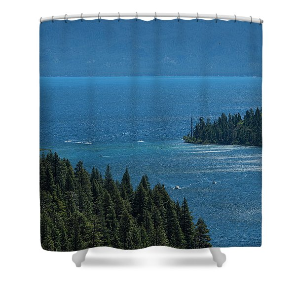 Emerald Bay Channel Shower Curtain