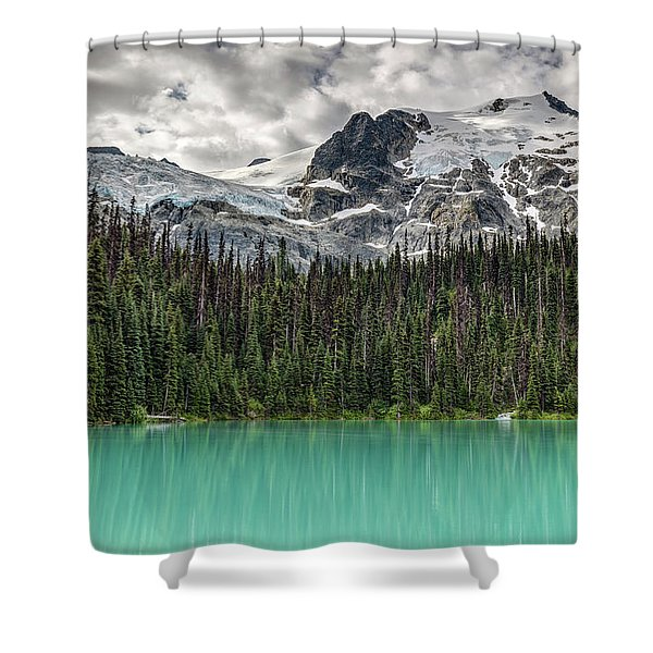 Emerald Reflection Shower Curtain