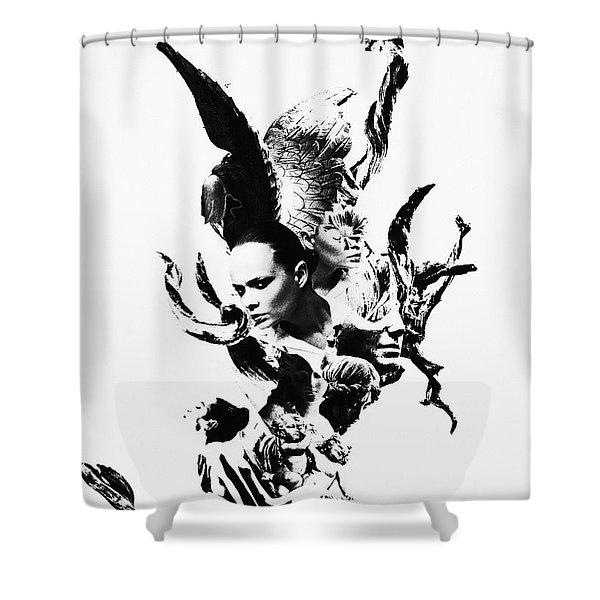 Emotional Tree Shower Curtain