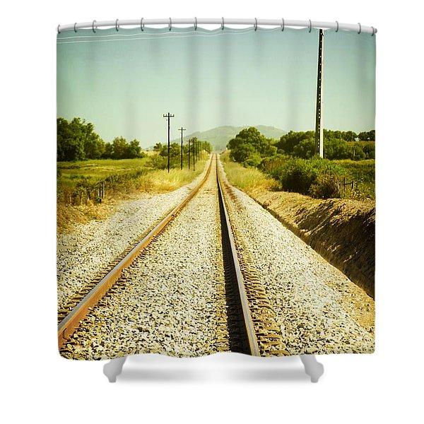 Empty Railway Shower Curtain