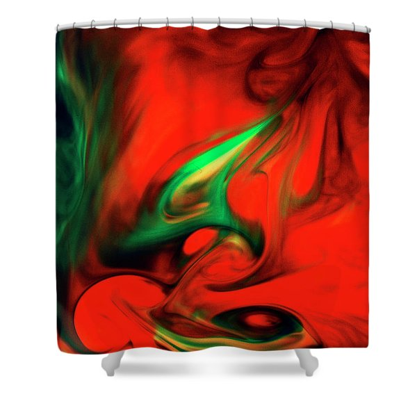 Envy Feeding On Itself Shower Curtain