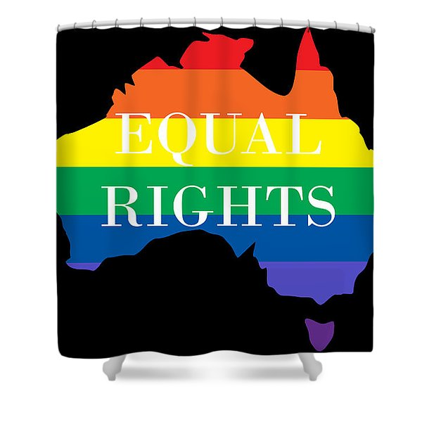 Equal Rights Australia Shower Curtain