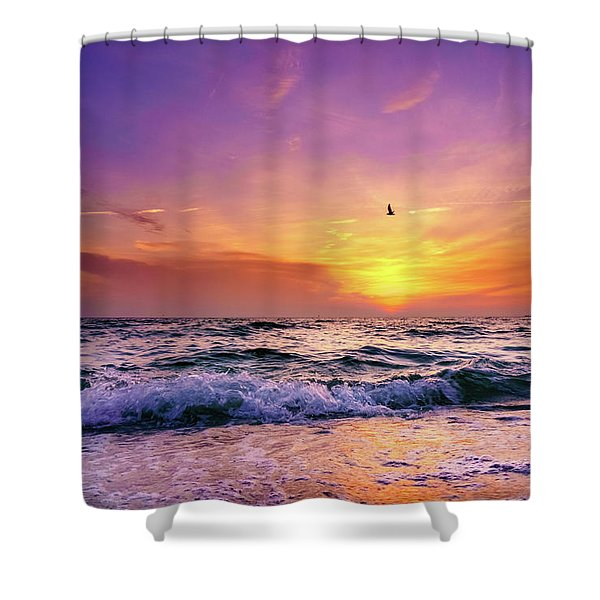 Evening Flight Shower Curtain