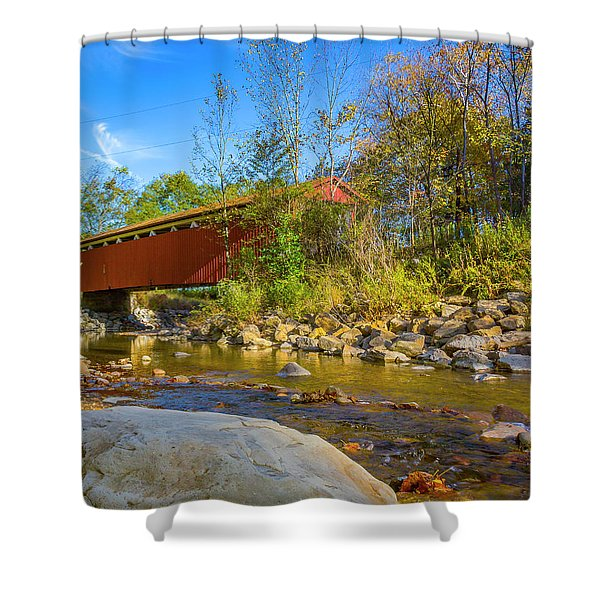 Everett Covered Bridge  Shower Curtain