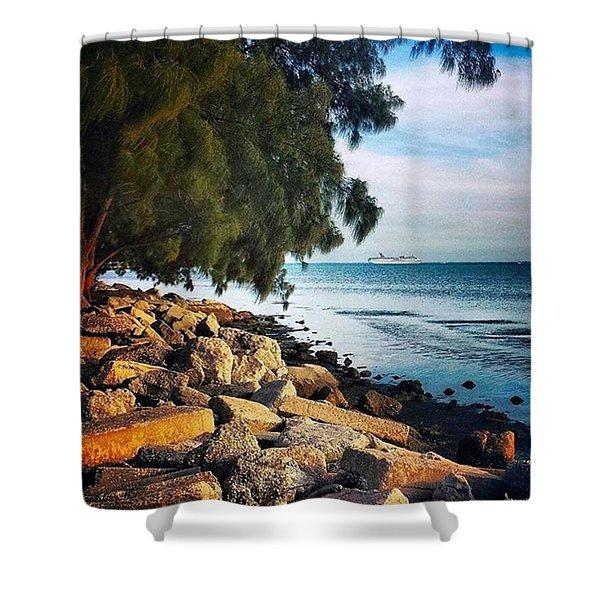 Warm Ocean Breeze Shower Curtain