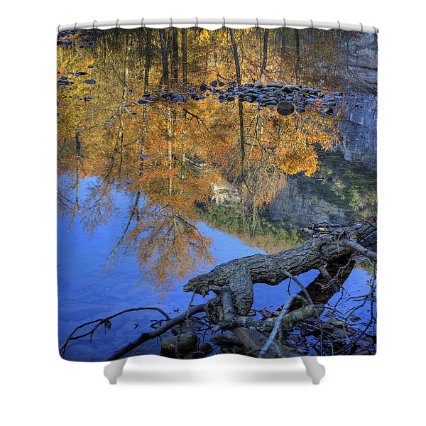 Fall Color At Big Bluff Shower Curtain by Michael Dougherty