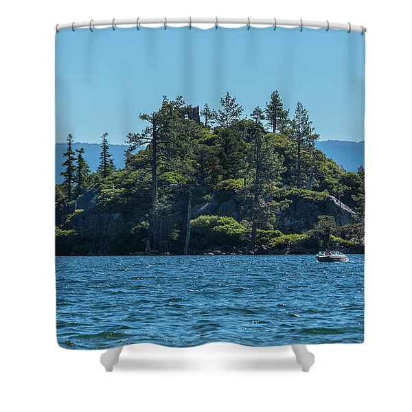 Fannette Island Shower Curtain