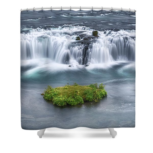 Faxi Waterfall - Iceland Shower Curtain