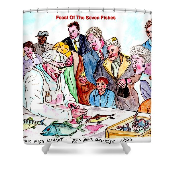 Feast Of The Seven Fishes Shower Curtain