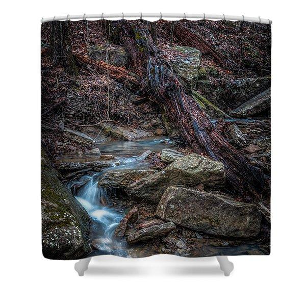 Feeder Creek Shower Curtain