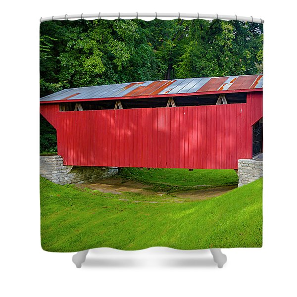 Feedwire Covered Bridge - Carillon Park Dayton Ohio Shower Curtain