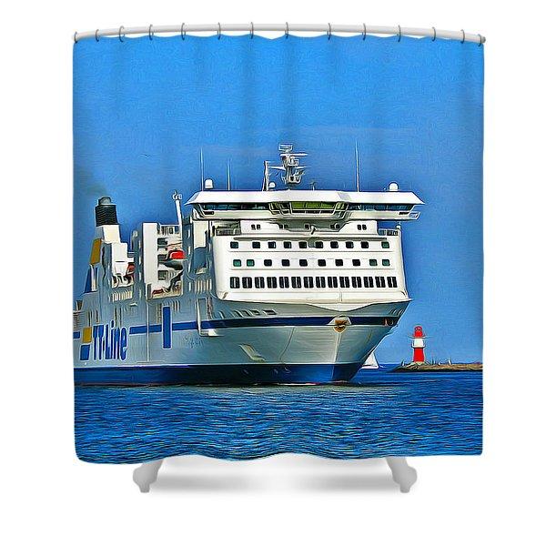 Ferry - Baltic Sea Shower Curtain