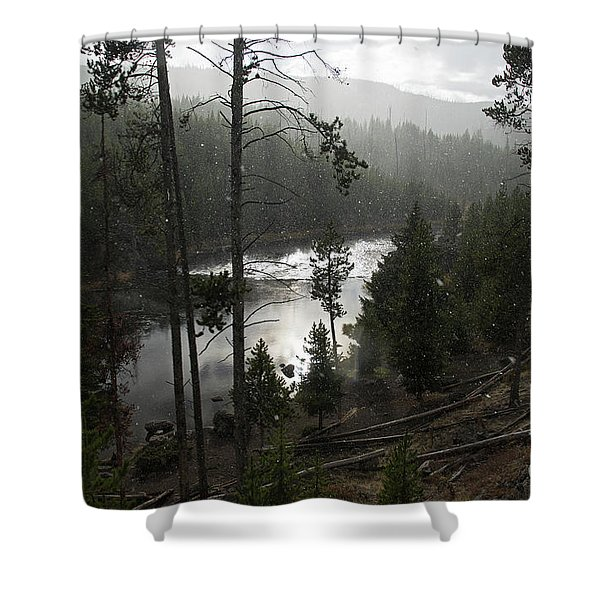Firehole River In Yellowstone Shower Curtain