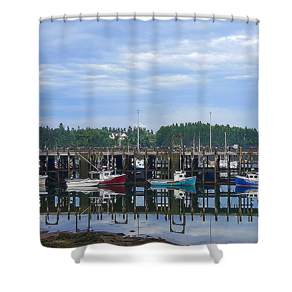 Fishing Boats - Beaver Harbour Shower Curtain