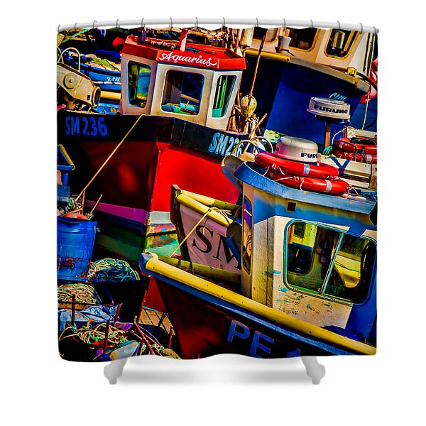 Fishing Fleet Shower Curtain