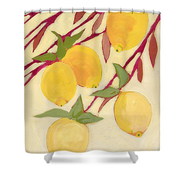 Five Lemons Shower Curtain