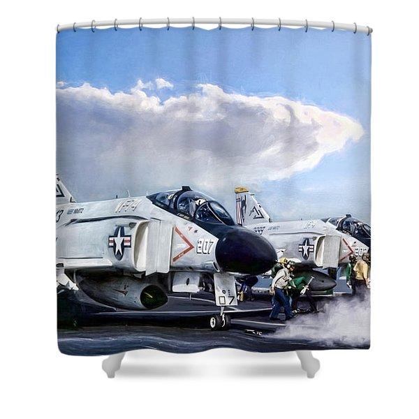 Phantom Flight Deck Shower Curtain
