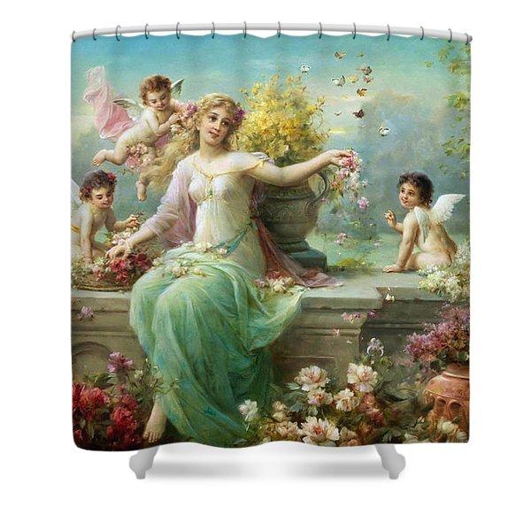 Flora Hans Zatzka Shower Curtain