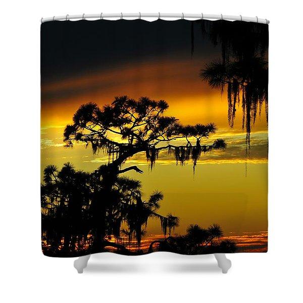 Central Florida Sunset Shower Curtain