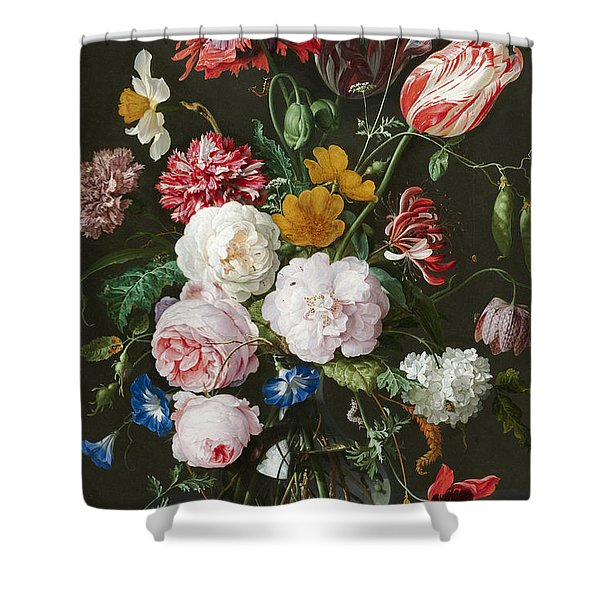 Flowers In A Glass Vase 3 Shower Curtain
