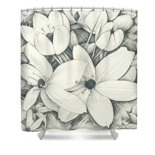 Flowers Pencil Shower Curtain