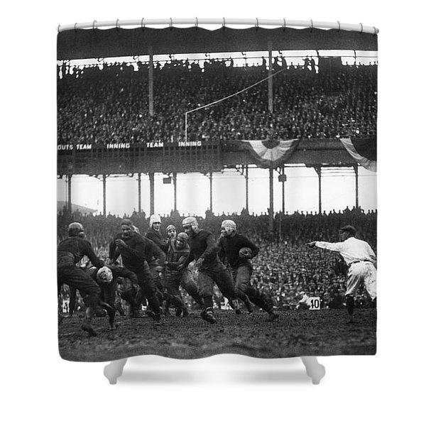 Football Game, 1925 Shower Curtain