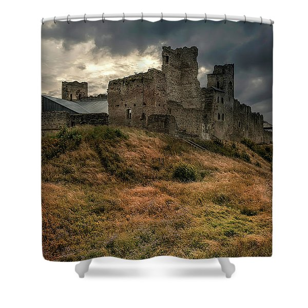 Shower Curtain featuring the photograph Forgotten Castle by Jaroslaw Blaminsky