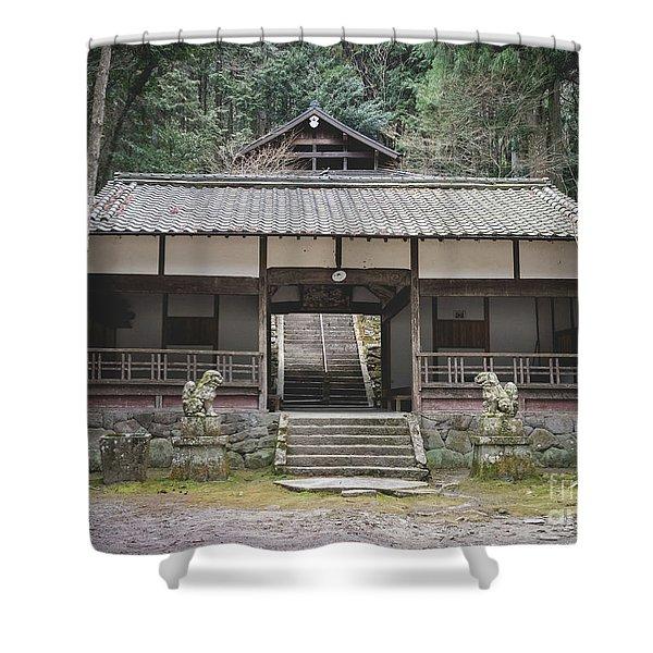 Forrest Shrine, Japan Shower Curtain