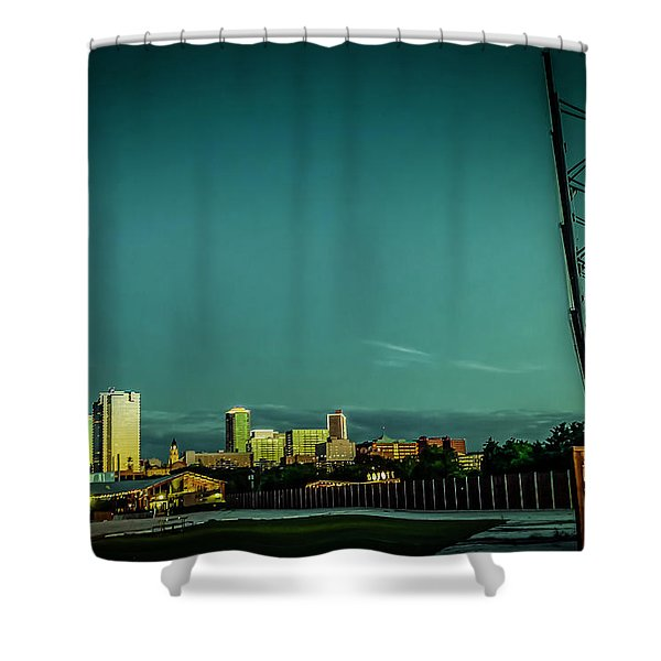 Fortworth Texas Cityscape Shower Curtain