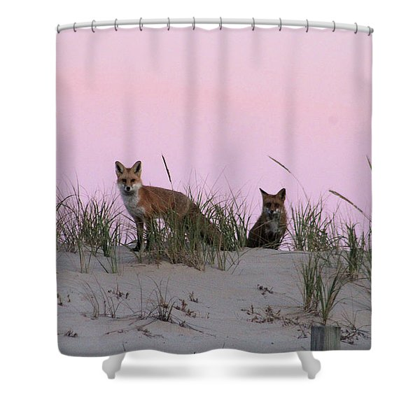 Fox And Vixen Shower Curtain