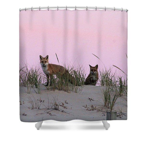 Fox And Vixen Shower Curtain