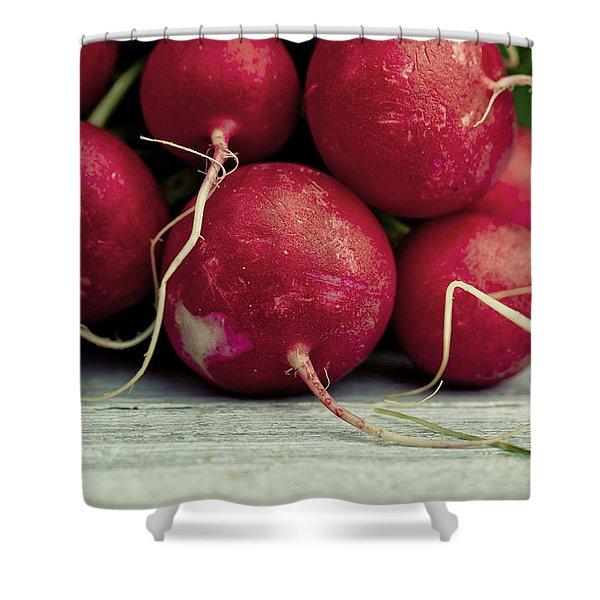Fresh Radish Shower Curtain