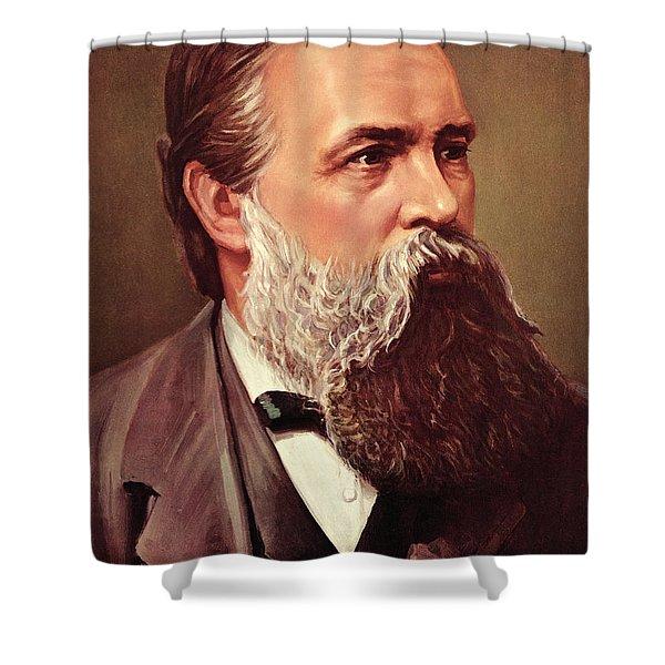 Friedrich Engels Shower Curtain