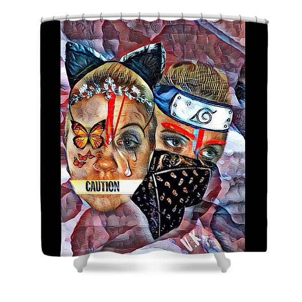 From Waif To Warrior Shower Curtain