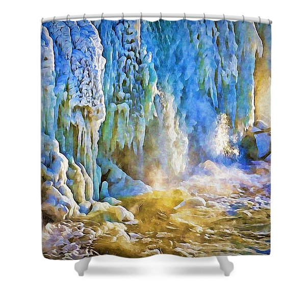 Frozen Waterfall Shower Curtain