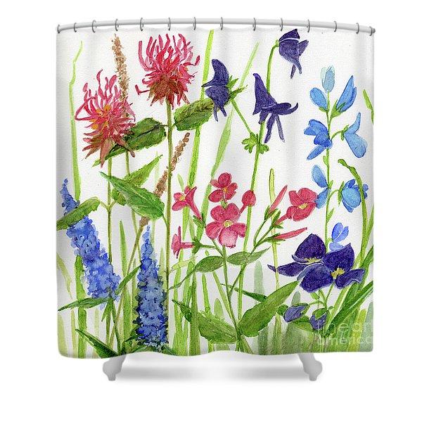 Garden Flowers Shower Curtain