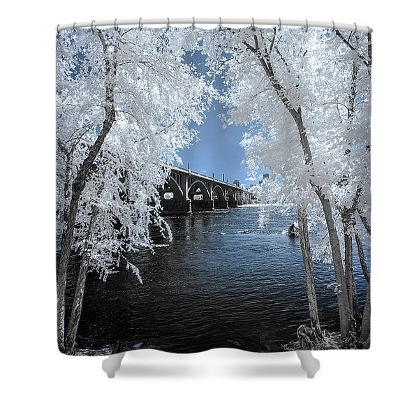 Gervais St. Bridge In Surreal Light Shower Curtain