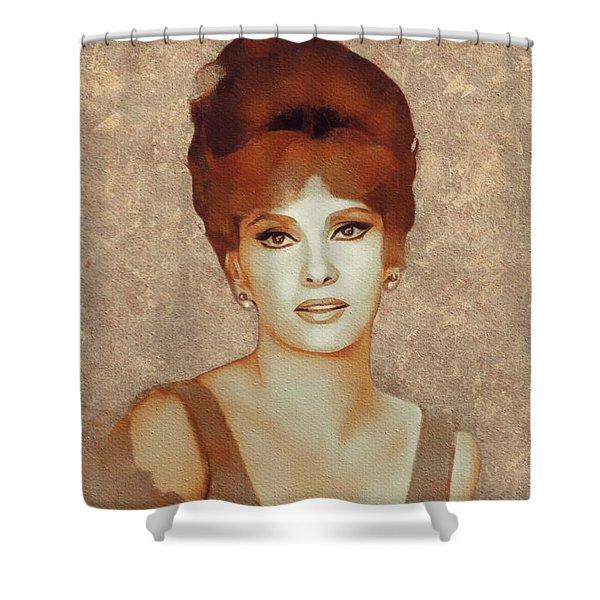 Gina Lollobrigida, Hollywood Legend Shower Curtain