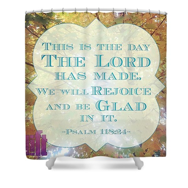 Give Thanks To The Lord, For He Is Shower Curtain