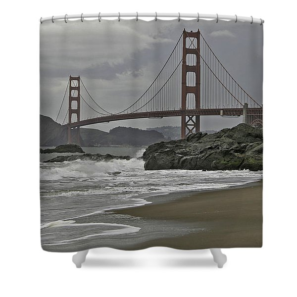Golden Gate Study #1 Shower Curtain