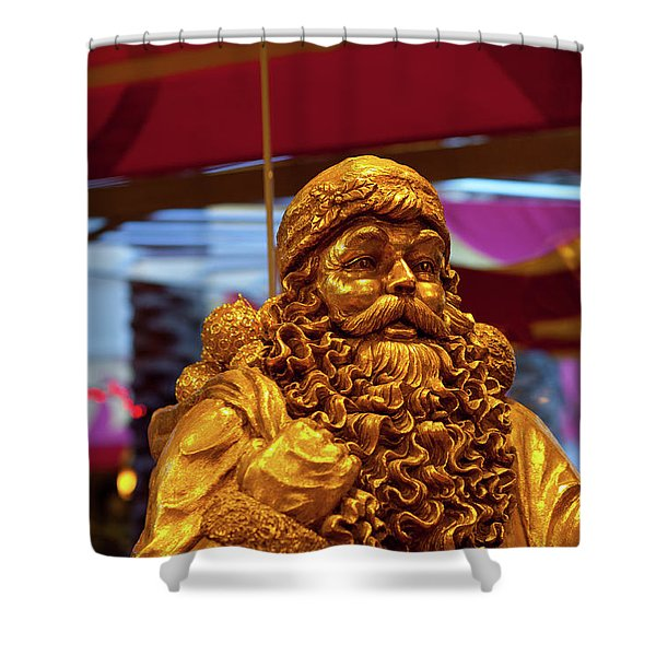 Golden Idol Shower Curtain