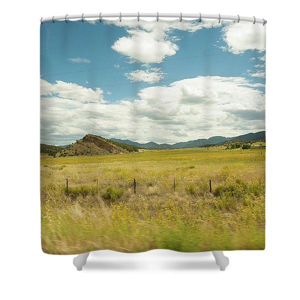 Golden Meadows Shower Curtain