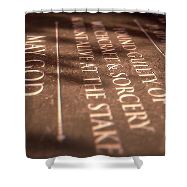 Gravestone Of Burnt Witch Shower Curtain