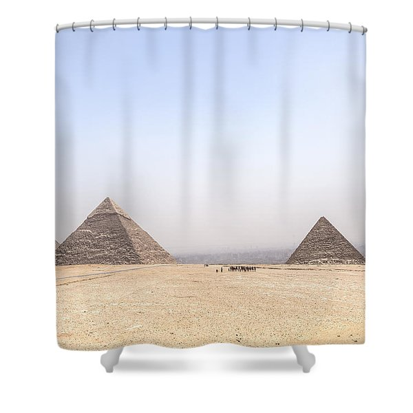 Great Pyramids Of Giza - Egypt Shower Curtain