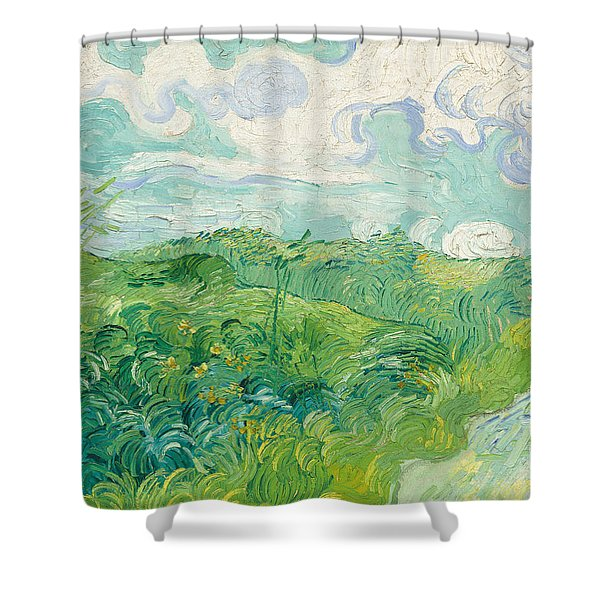 Green Wheat Fields   Auvers Shower Curtain