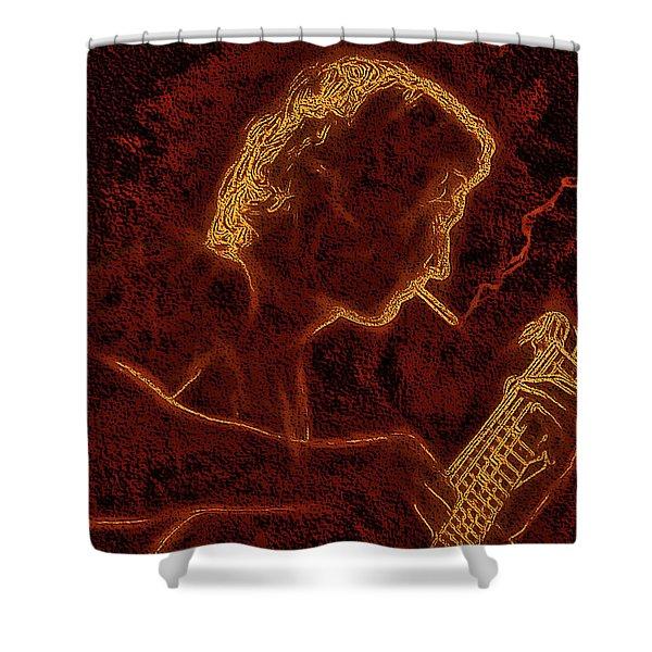 Guitar Player Shower Curtain