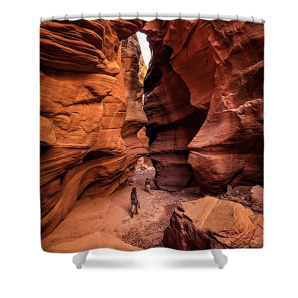 Happy Canyon Shower Curtain