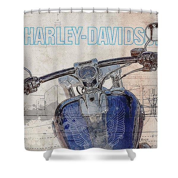 Harley Davidson Cvo Breakout Shower Curtain