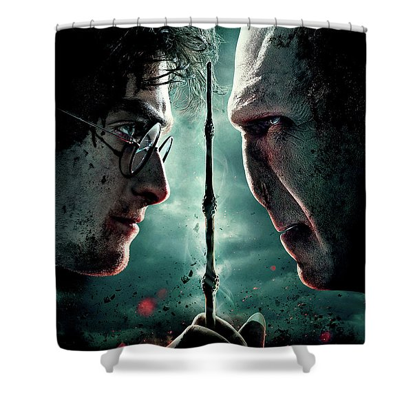Harry Potter And The Deathly Hallows Part II 2011  Shower Curtain